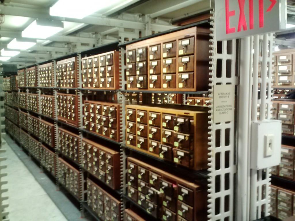 Library of Congress card catalog